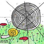 snigelsång och spindelspår